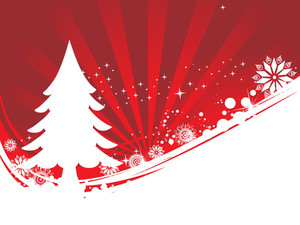 Abstract Background Of Christmas Ornamented