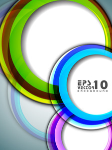 Abstract Background With 3d Circles 10
