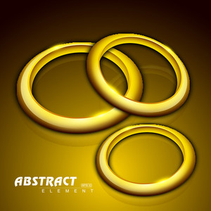 Abstract Background With 3d Golden Circles.