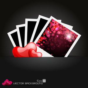 Abstract Background With Beautiful Hearts In Fram