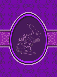 Abstract Background With Floral Decorated Rabbit