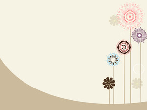 Abstract Background With Flower Tree