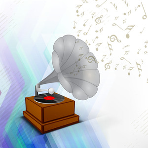 Abstract background with gramophone