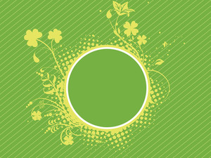 Abstract Background With Grunge Shamrock 17 March