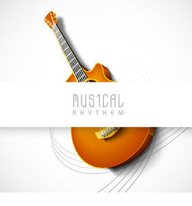Abstract Background With Guitar