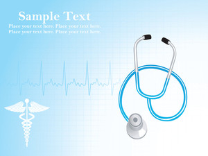 Abstract Background With Heart Beat And Stethoscope
