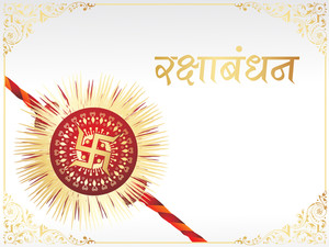 Abstract Background With Isolated Rakhi