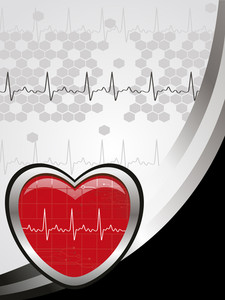 Abstract Background With Medical Heart