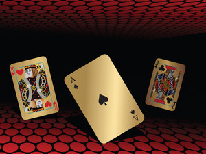 Abstract Background With Playing Cards