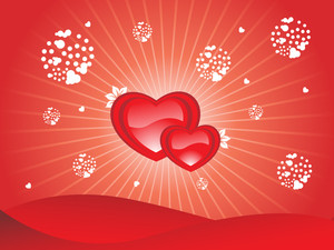 Abstract Background With Red Heart