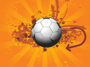 Abstract Background With Soccer Illustration