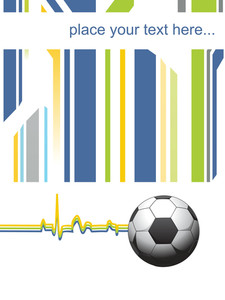 Abstract Background With Soccer