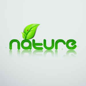 Abstract Background With Text Nature And Green Leaves