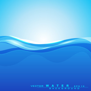 Abstract Background With Water Waves And Sun Light For Save Water Concept And Other Purpose