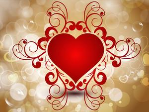 Abstract Beautiful Heart.