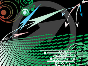 Abstract Black Background With Arrow Elements