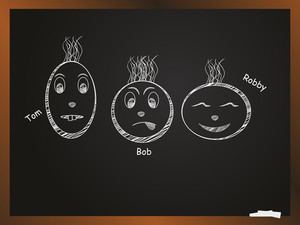 Abstract Black Board Background