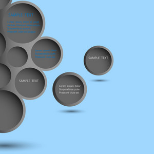 Abstract Black Design Bubble Background