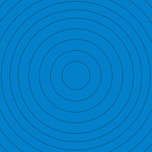 Abstract Blue Circles Pattern Background