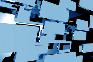 Abstract Blue Motion