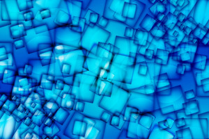Abstract Blue Squares
