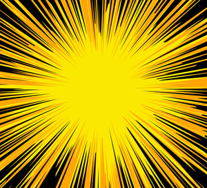 Abstract Bright Sunburst Background