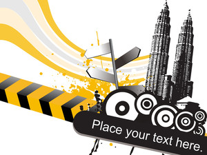 Abstract Building Background With Place For Text