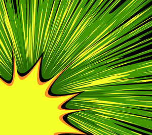 Abstract Burst Retro Background