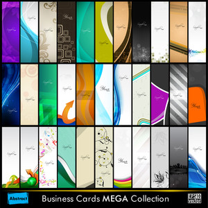 Abstract  Business Cards Set.