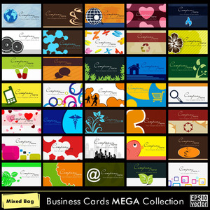 Abstract Business Cards.