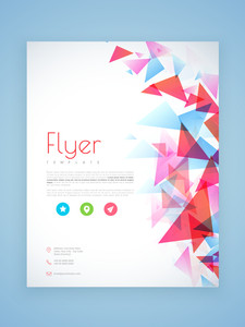 Abstract business flyer brochure or template design for corporate sector.