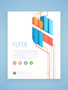 Abstract business flyer template or brochure design for corporate sector.