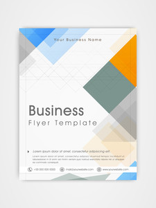Abstract business flyer template or brochure design for professional presentation or corporate purpose.