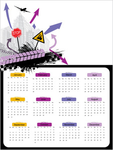 Abstract Calender Illustration