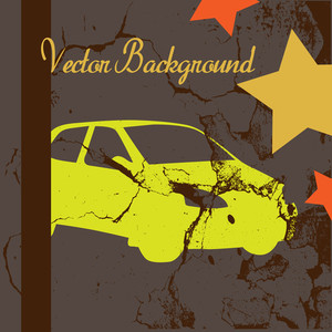 Abstract Car Grunge Background