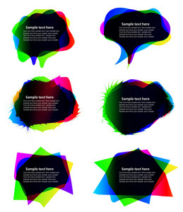 Abstract Chat Bubbles Vector Illustration