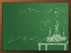 Abstract Chemistry Concept Background