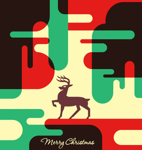 Abstract Christmas Card Design