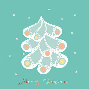 Abstract Christmas Tree Card