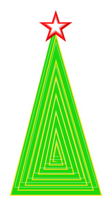 Abstract Christmas Tree Design With Star