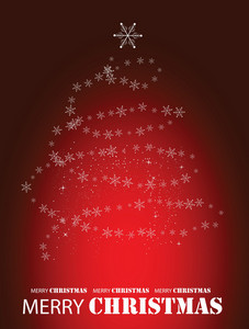 Abstract Christmass Tree Vector