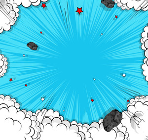 Abstract Clouds Asteroids Background