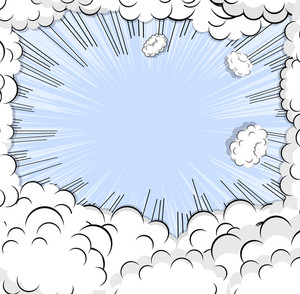 Abstract Clouds Background Banner Background