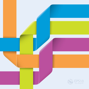 Abstract Color Paper Vector Infographics Template.