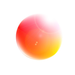 Abstract Colored Ball Icon - Vector Background