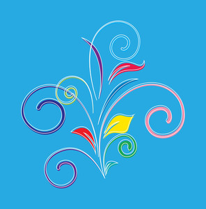 Abstract Colored Floral Design
