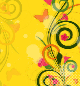 Abstract Colored Floral