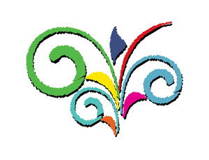 Abstract Colored Flourish