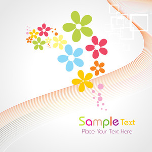 Abstract Colorful Bloom Background