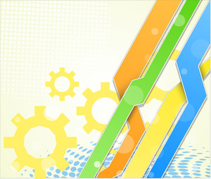 Abstract Colorful Business Gears Background